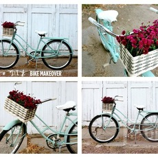 จักรยานคันเก่า นำมาพ่นสีใหม่