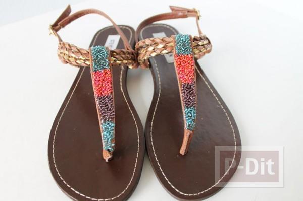 รูป 5 รองเท้าสายหนังรัดส้น นำมาตกแต่งใหม่ สวยน่าสวมใส่