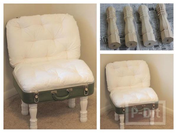 เก้าอี้สวยๆ ทำจากกระเป๋าใบเก่า