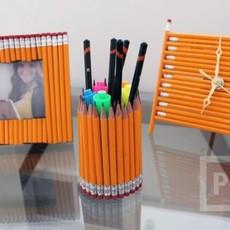 ทำกรอบรูป นาฬิกา กล่องดินสอ จากดินสอไม้