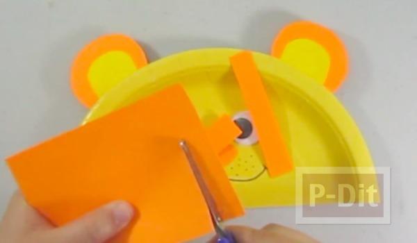 รูป 7 สิงโตน่ารักๆ ทำจากจานพลาสติก