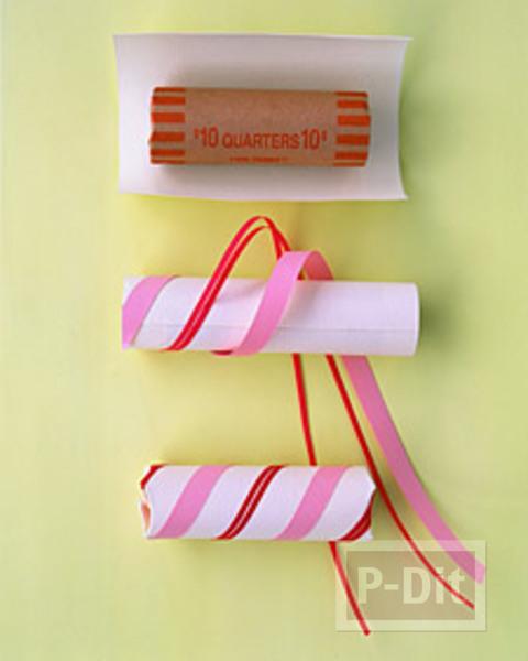 รูป 2 ห่อของขวัญลูกอม ขนมหวาน ด้วยแกนกระดาษทิชชู