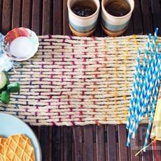 สานผ้าปูโต๊ะสวยๆ จากเชือก