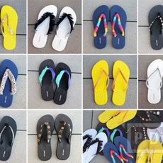รองเท้าคีบ นำมาตกแต่ง ประดับสีสัน