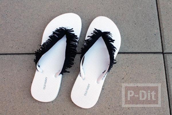 รูป 5 รองเท้าคีบ นำมาตกแต่ง ประดับสีสัน