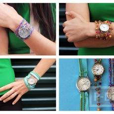 สายนาฬิกาสวยๆ ทำจาก ริบบิ้น ลูกปัด เชือก