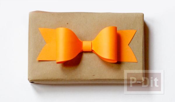 รูป 3 สอนพับโบว์ห่อของขวัญ ด้วยกระดาษ