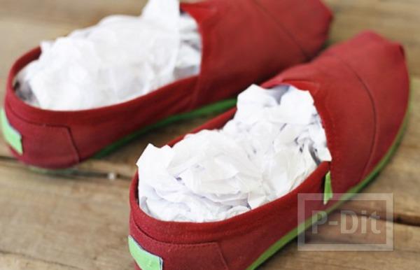 รูป 7 รองเท้าพ่นสี ลายดอยลี่