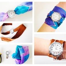 สายนาฬิกา ทำจากผ้าเช็ดหน้า