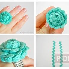 ทำแหวนดอกกุหลายสวยๆ