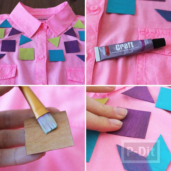 รูป 6 ไอเดียตกแต่งเสื้อแขนยาว ลายแปลก สีสดใส
