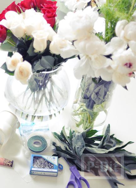 รูป 2 ช่อดอกไม้เจ้าสาว เพื่อนเจ้าสาว ทำเองแบบง่ายๆ
