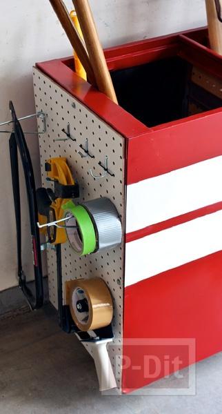 รูป 3 ประดิษฐ์ที่เก็บเครื่องมือช่าง จากตู้เอกสาร ใบเก่า