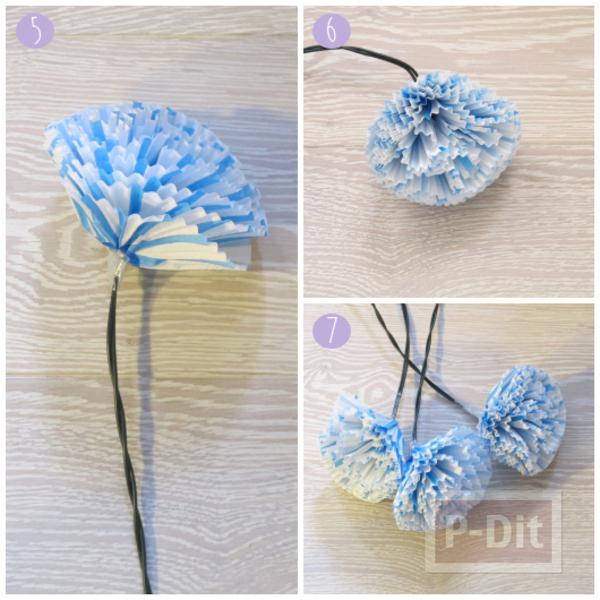 รูป 6 ดอกไม้กระดาษคัพเค้ก