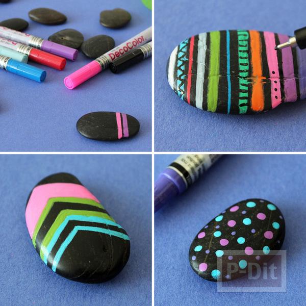 รูป 4 แหวนก้อนหิน ระบายสีสวย