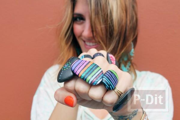 รูป 6 แหวนก้อนหิน ระบายสีสวย