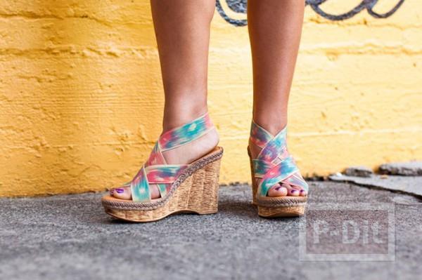 รูป 3 สอนตกแต่งสายรองเท้า ลายสวย
