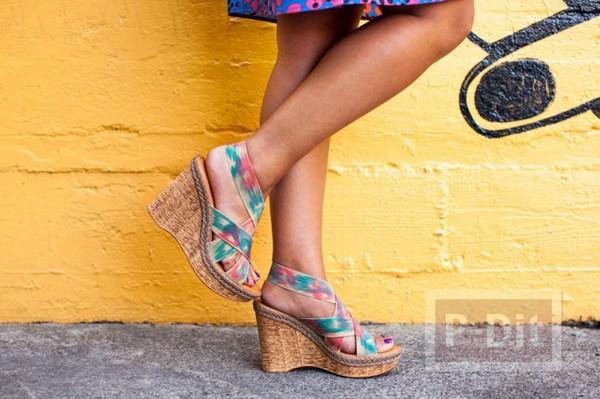 รูป 4 สอนตกแต่งสายรองเท้า ลายสวย