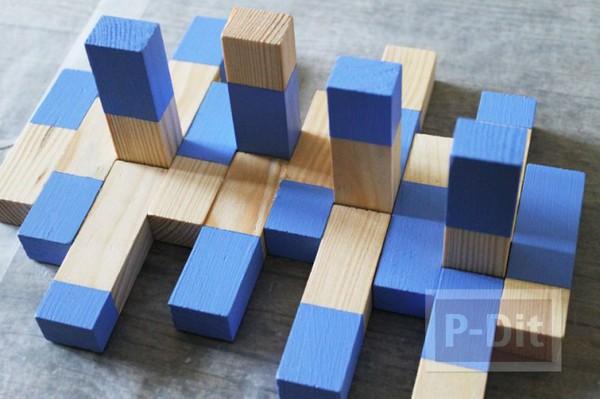 รูป 3 ที่แขวนเครื่องประดับ ทำจากบล็อคไม้