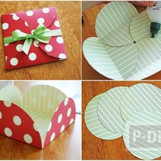 ซองจดหมาย ทำจากกระดาษกลมๆ