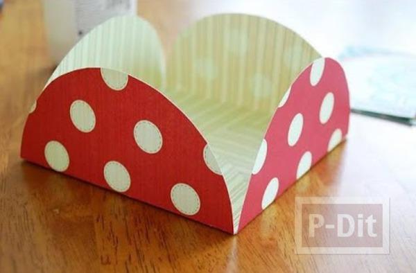 รูป 5 ซองจดหมาย ทำจากกระดาษกลมๆ