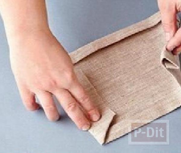 รูป 4 สอนทำที่ใส่ของ จากกางเกงยีนส์