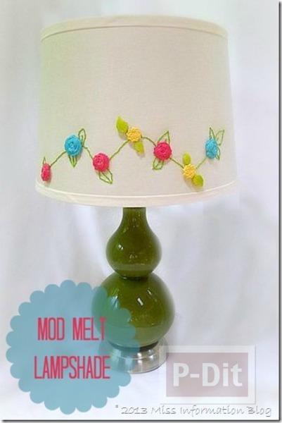 รูป 6 โคมไฟตั้งโต๊ะ ตกแต่งลายดอกไม้ สวยๆ