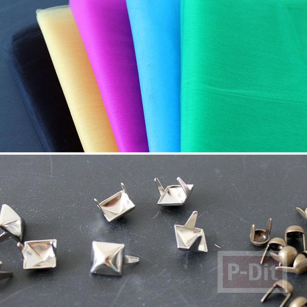 รูป 5 สร้อยข้อมือหลากสี ประดับด้วหมุดสีเงิน