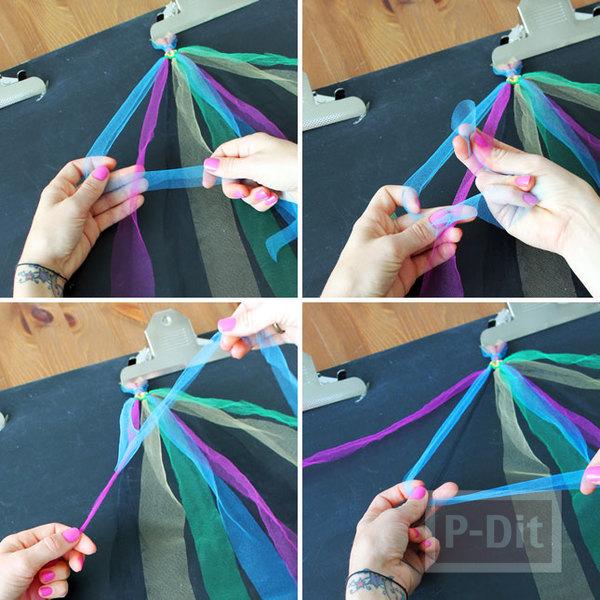 รูป 7 สร้อยข้อมือหลากสี ประดับด้วหมุดสีเงิน