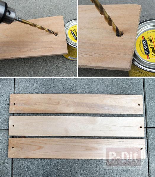 รูป 5 ที่ห้อยของ ทำจากแผ่นไม้และยางยืด