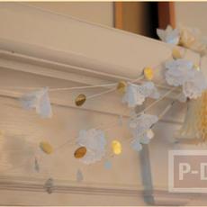 โมบายประดับบ้าน ทำจากกระดาษห่อขนม