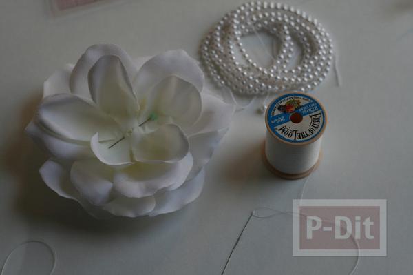 รูป 6 สอนทำเข็มขัดดอกไม้ น่ารักๆ แบบง่ายๆ