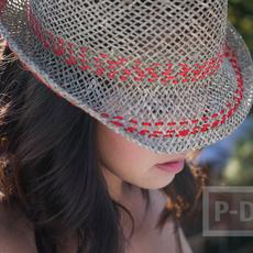 ตกแต่งหมวกแบบง่ายๆ ด้วยด้ายสีสวย