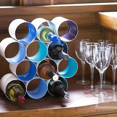 ประดิษฐ์ที่ใส่ขวดไวน์ จากกระป๋องเก่าๆ