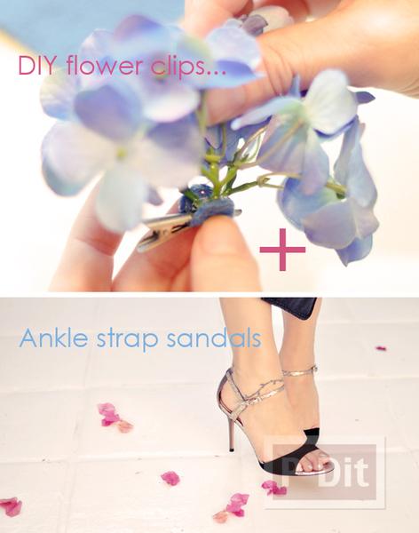 รูป 3 รองเท้า กิ๊บติดผม ตกแต่งจากดอกไม้ประดิษฐ์