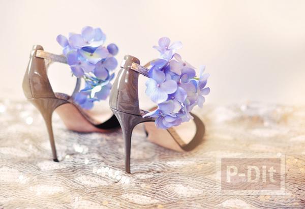 รูป 4 รองเท้า กิ๊บติดผม ตกแต่งจากดอกไม้ประดิษฐ์