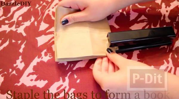 รูป 4 สอนทำอัลบั้มรูป จากถุงกระดาษ