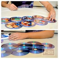 ทำที่โชว์รูปสวยๆ จากแผ่น CD