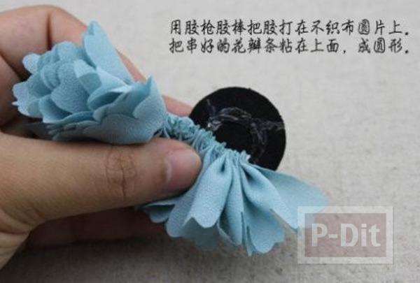 รูป 5 สอนทำที่รัดผม ลายดอกไม้