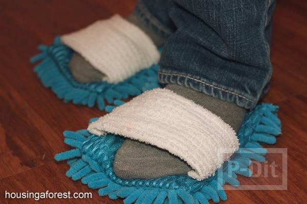 รูป 1 รองเท้าพรมเช็ดเท้า ทำเอง