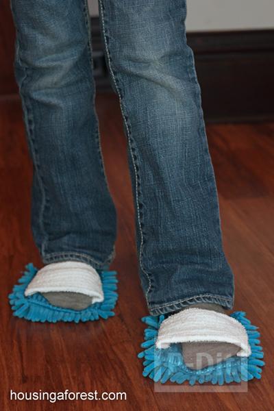 รูป 3 รองเท้าพรมเช็ดเท้า ทำเอง