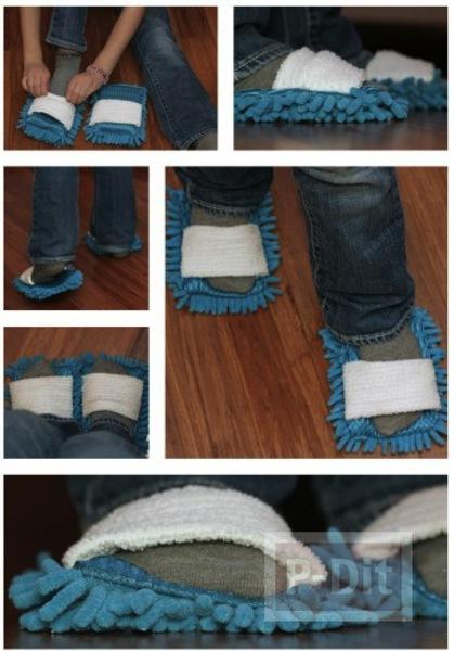 รูป 5 รองเท้าพรมเช็ดเท้า ทำเอง