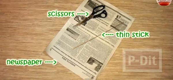 รูป 2 สานตะกร้า จากกระดาษหนังสือพิมพ์