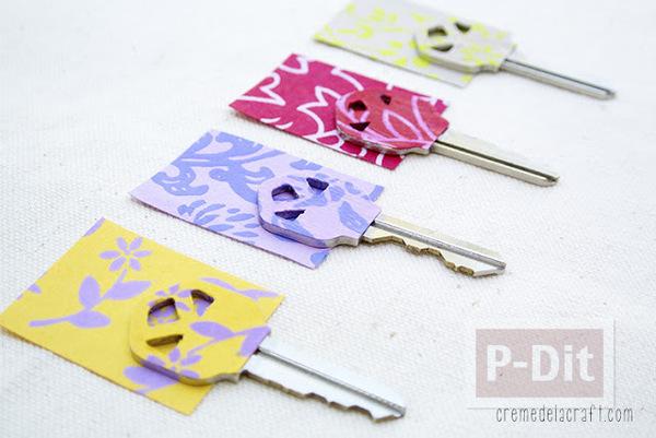 ตกแต่งกุญแจ ด้วยกระดาษสีสวย