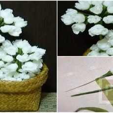 สอนทำดอกมะลิ จากกระดาษ (ดอกไม้วันแม่)