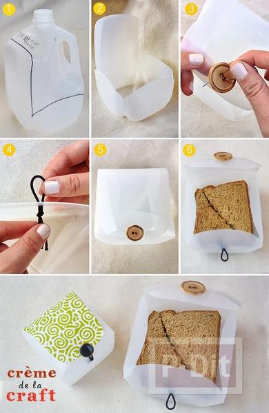 รูป 6 กล่องเก็บของ ทำจากขวดนมเก่าๆ