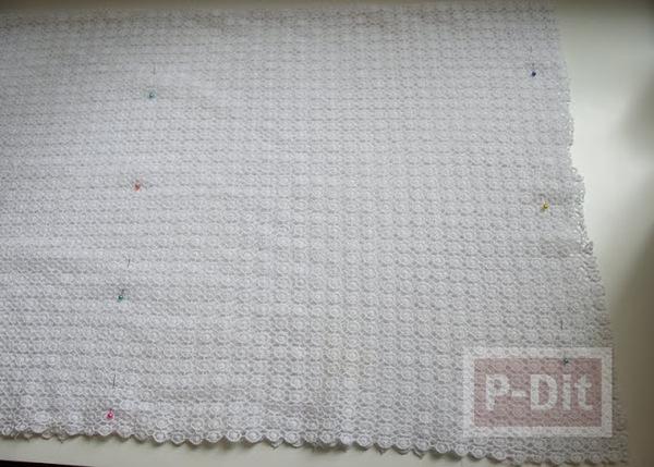 รูป 5 เย็บเสื้อกล้ามลายลูกไม้ สีขาว