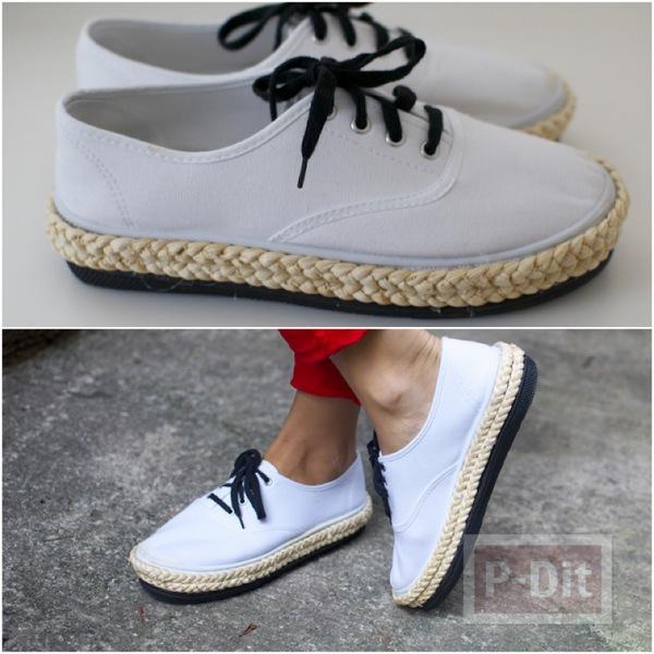 เปลี่ยนรองเท้าผ้าใบคู่เก่ง ให้มีส้นหนากว่าเดิม