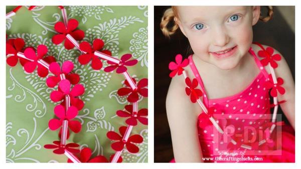 รูป 1 สร้อยคอดอกไม้แสนสวย สำหรับเด็ก