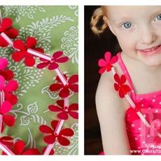 สร้อยคอดอกไม้แสนสวย สำหรับเด็ก